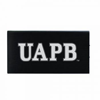 8000 mAh Portable Cell Phone Charger-University of Arkansas at Pine Buff -Black