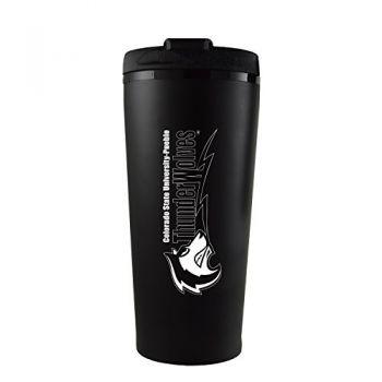 California State University, Pueblo-16 oz. Travel Mug Tumbler-Black