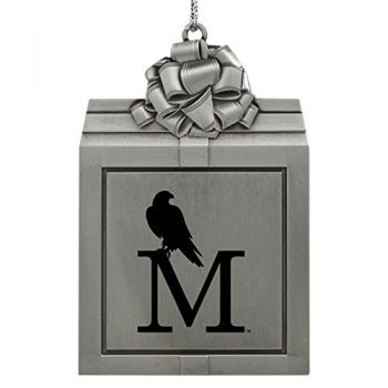 University of Montevallo-Pewter Christmas Holiday Present Ornament-Silver