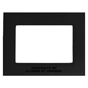 University of Illinois at Chicago-Velour Picture Frame 4x6-Black
