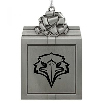 Morehead State University -Pewter Christmas Holiday Present Ornament-Silver