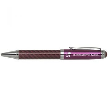 The University of Kansas-Carbon Fiber Mechanical Pencil-Pink