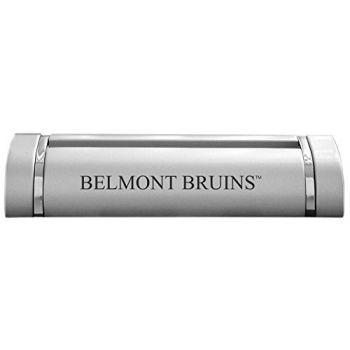 Belmont University-Desk Business Card Holder -Silver