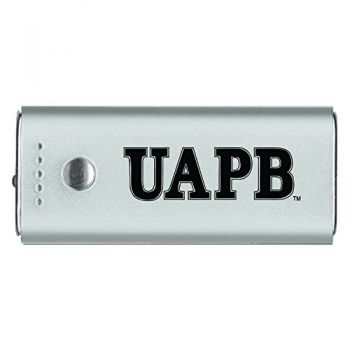 University of Arkansas at Pine Buff -Portable Cell Phone 5200 mAh Power Bank Charger -Silver