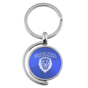 Columbia University - Spinner Key Tag - Blue