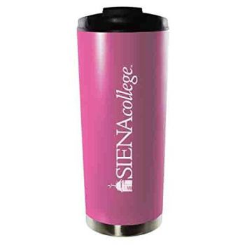 Siena College-16oz. Stainless Steel Vacuum Insulated Travel Mug Tumbler-Pink