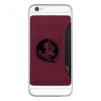 Florida State University-Cell Phone Card Holder-Burgundy