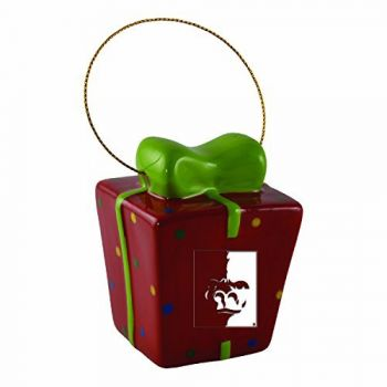 Pittsburg State University-3D Ceramic Gift Box Ornament