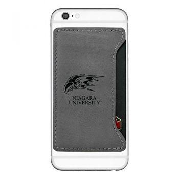 Niagara University -Cell Phone Card Holder-Grey