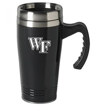 Wake Forest University-16 oz. Stainless Steel Mug-Black