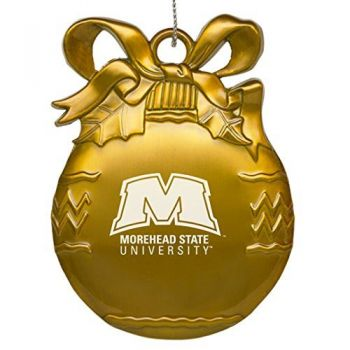 Morehead State University - Pewter Christmas Tree Ornament - Gold
