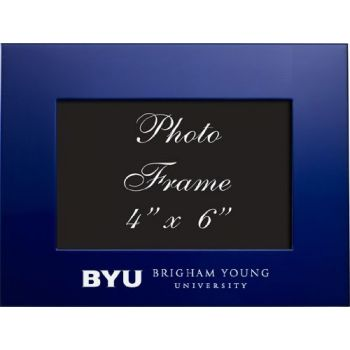 Brigham Young University - 4x6 Brushed Metal Picture Frame - Blue