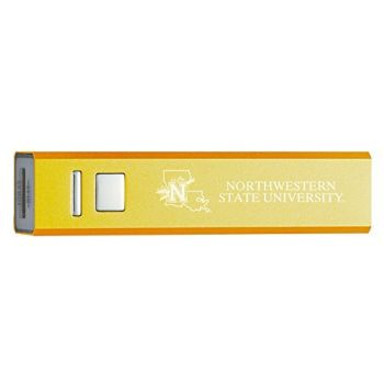 Northwestern State University - Portable Cell Phone 2600 mAh Power Bank Charger - Gold
