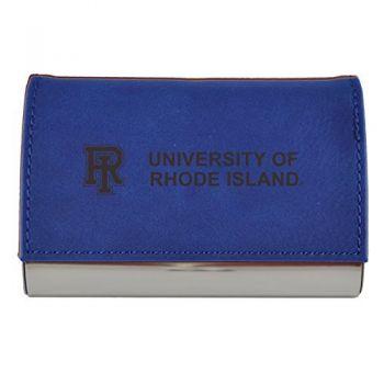 Velour Business Cardholder-The University of Rhode Island-Blue
