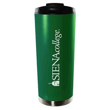 Siena College-16oz. Stainless Steel Vacuum Insulated Travel Mug Tumbler-Green