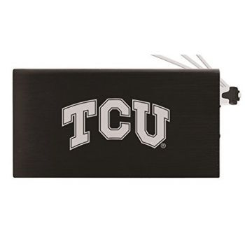 8000 mAh Portable Cell Phone Charger-Texas Christian University -Black