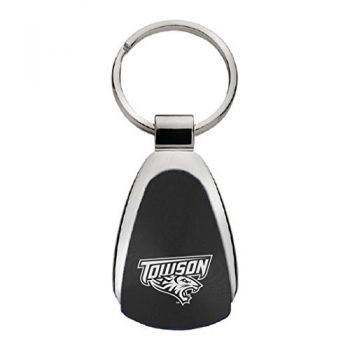 Towson University - Teardrop Keychain - Black