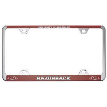 University of Arkansas-Metal License Plate Frame-Red