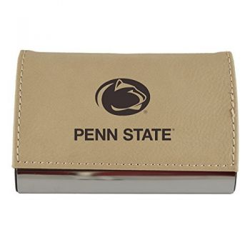 Velour Business Cardholder-The Pennsylvania State University-Tan