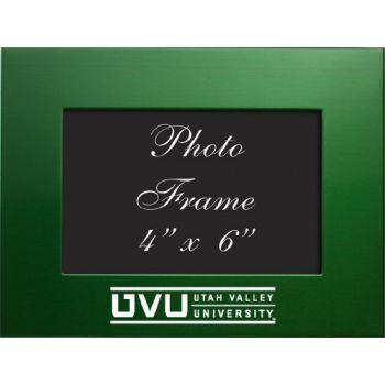 Utah Valley University - 4x6 Brushed Metal Picture Frame - Green