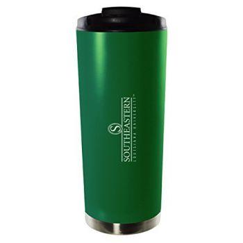 Southeastern Louisiana University-16oz. Stainless Steel Vacuum Insulated Travel Mug Tumbler-Green