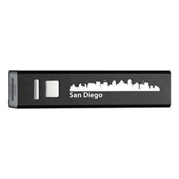 Quick Charge Portable Power Bank 2600 mAh - San Diego City Skyline
