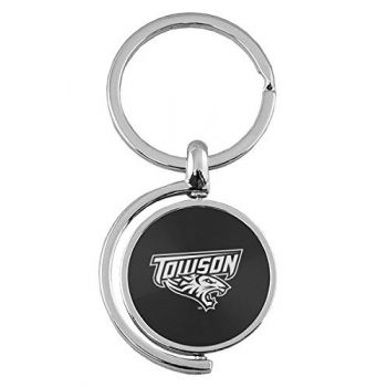 Towson University - Spinner Key Tag - Black