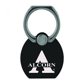 Alcorn State University|Multi-Functional Phone Stand Tech Ring|Black