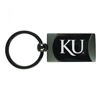 The University of Kansas-Two-Toned Gun Metal Key Tag-Gunmetal