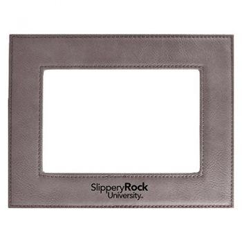 Slippery Rock University-Velour Picture Frame 4x6-Grey