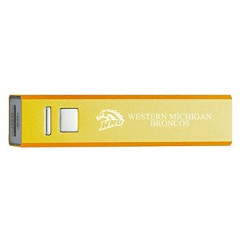 Western Michigan University - Portable Cell Phone 2600 mAh Power Bank Charger - Gold