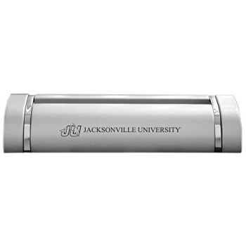 Jacksonville University-Desk Business Card Holder -Silver
