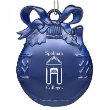 Spelman College - Pewter Christmas Tree Ornament - Blue