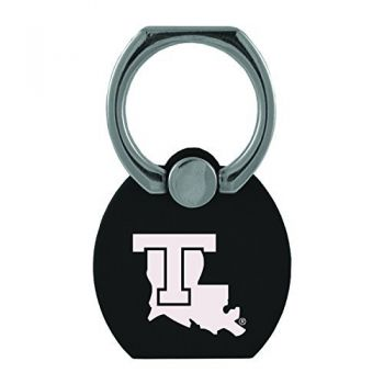 Louisiana Tech University|Multi-Functional Phone Stand Tech Ring|Black