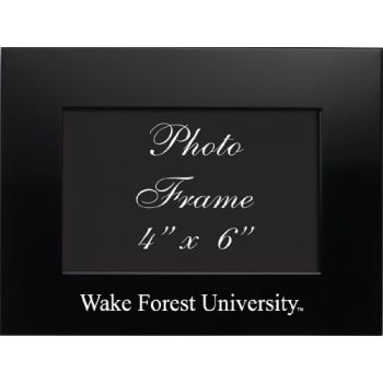 Wake Forest University - 4x6 Brushed Metal Picture Frame - Black