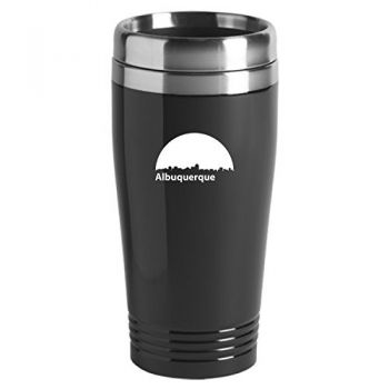 16 oz Stainless Steel Insulated Tumbler - Albuquerque City Skyline