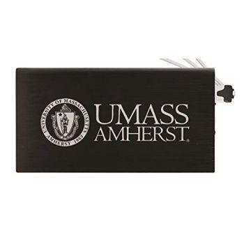 8000 mAh Portable Cell Phone Charger-University of Massachusetts, Amherst-Black