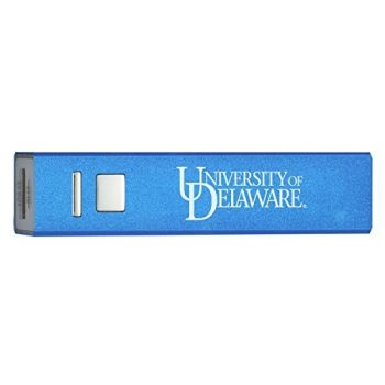 University of Delaware - Portable Cell Phone 2600 mAh Power Bank Charger - Blue
