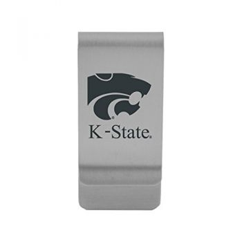 Kansas State University|Money Clip with Contemporary Metals Finish|Solid Brass|High Tension Clip to Securely Hold Cash, Cards and ID's|Gold
