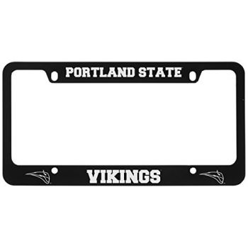 Portland State University -Metal License Plate Frame-Black