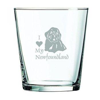 13 oz Cocktail Glass  - I Love My Newfoundland Dog