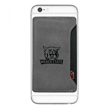Weber State University-Cell Phone Card Holder-Grey