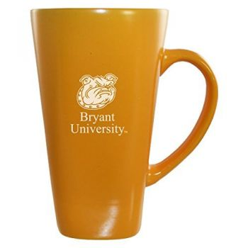 Bryant University -16 oz. Tall Ceramic Coffee Mug-Gold