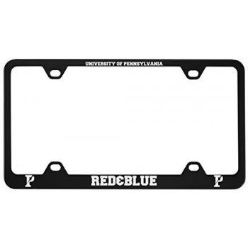 University of Pennsylvania-Metal License Plate Frame-Black