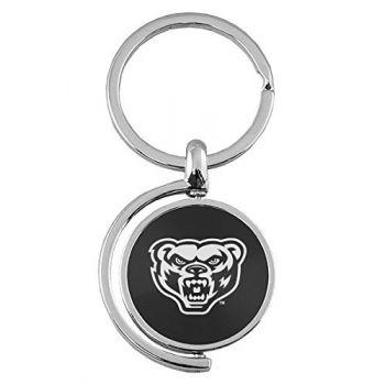 Oakland University - Spinner Key Tag - Black