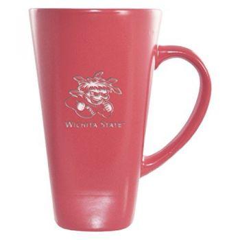 Wichita State University -16 oz. Tall Ceramic Coffee Mug-Pink