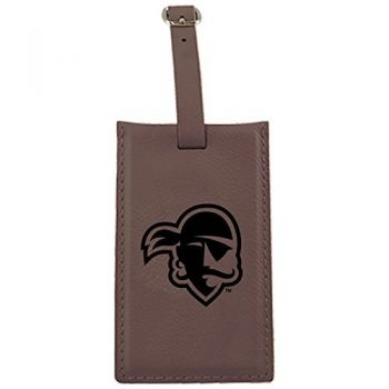 Seton Hall University -Leatherette Luggage Tag-Brown