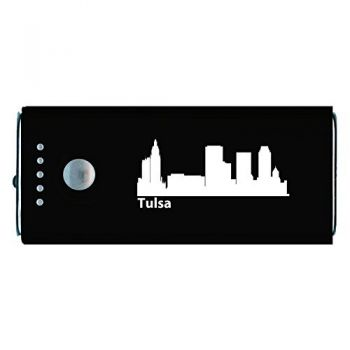 Tulsa, Oklahoma-Portable Cell Phone 5200 mAh Power Bank Charger-Black