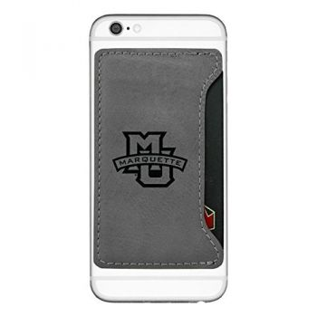 Marquette University-Cell Phone Card Holder-Grey