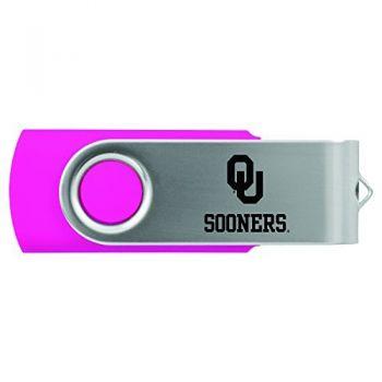 University of Oklahoma-8GB 2.0 USB Flash Drive-Pink